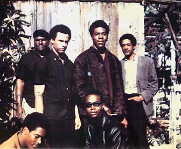 The six original members of the Black Panther Party for Self-Defense (1966). Image courtesy of Wikipedia.