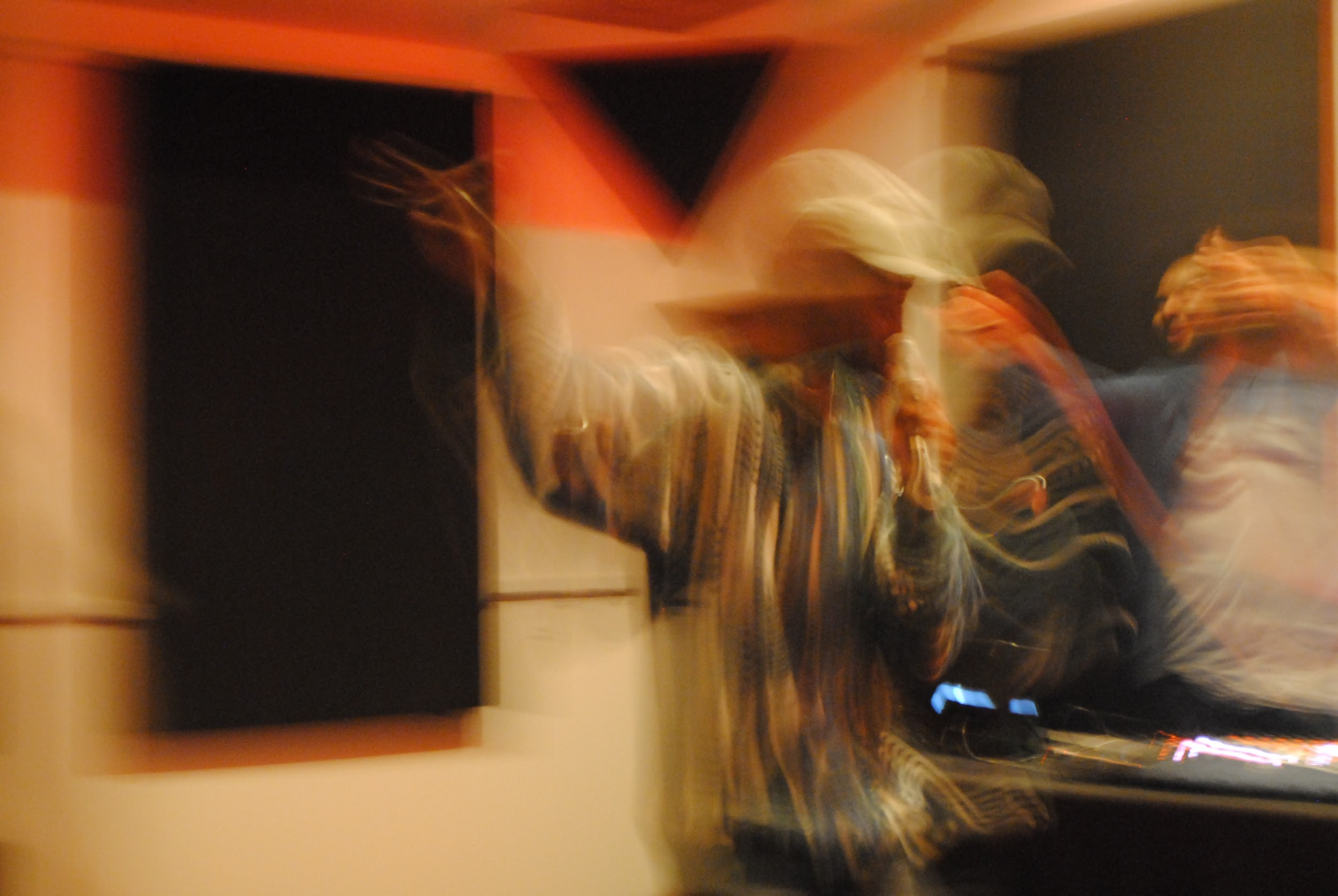 Femdot dances over to the DJ booth to break it down. (Alexandra Amendola, 14 East Magazine)