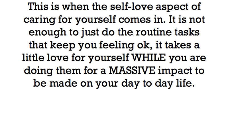 this is when the self love