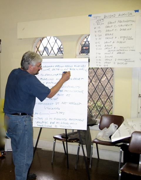 Ken learned how to organize a movement during his time working on the Pledge of America (photo courtesy of Ken Butigan)