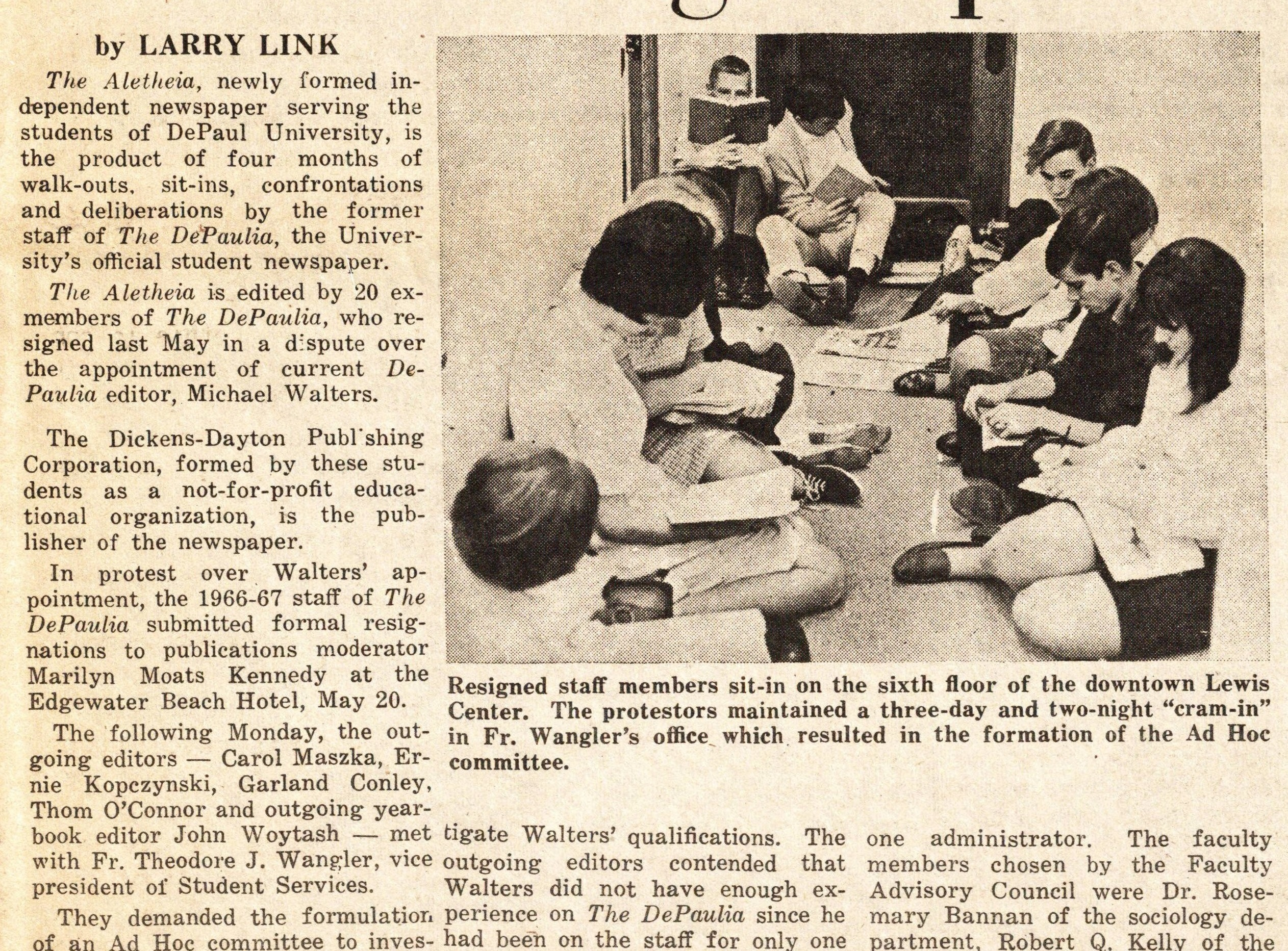 Student coverage of the DePaul Cram-in (courtesy of the DePaul Richardson Library Digital Collections)