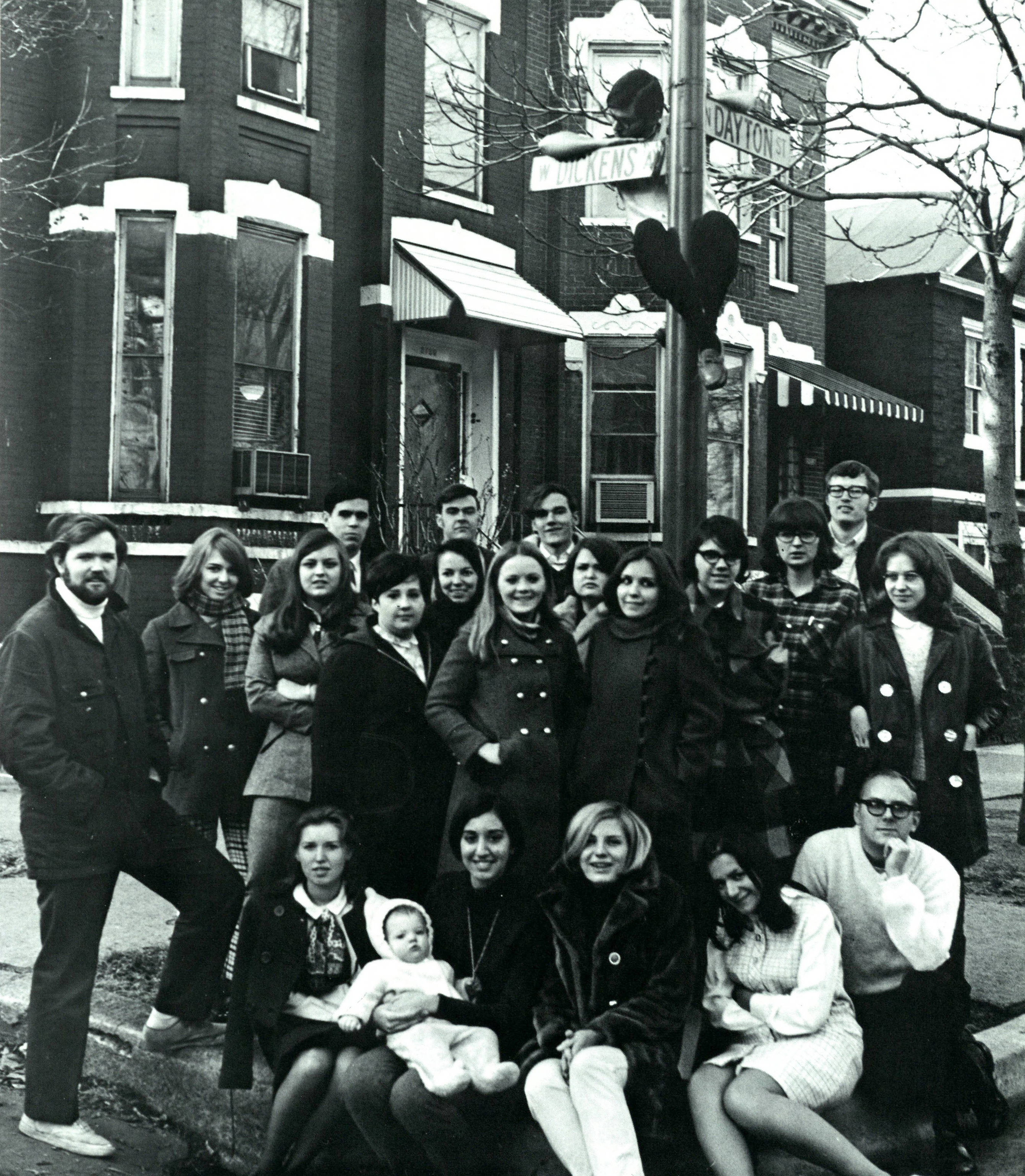 The staff of the Aletheia - 1969 DePaulian (image courtesy of the DePaul Richardson Library Digital Collections)