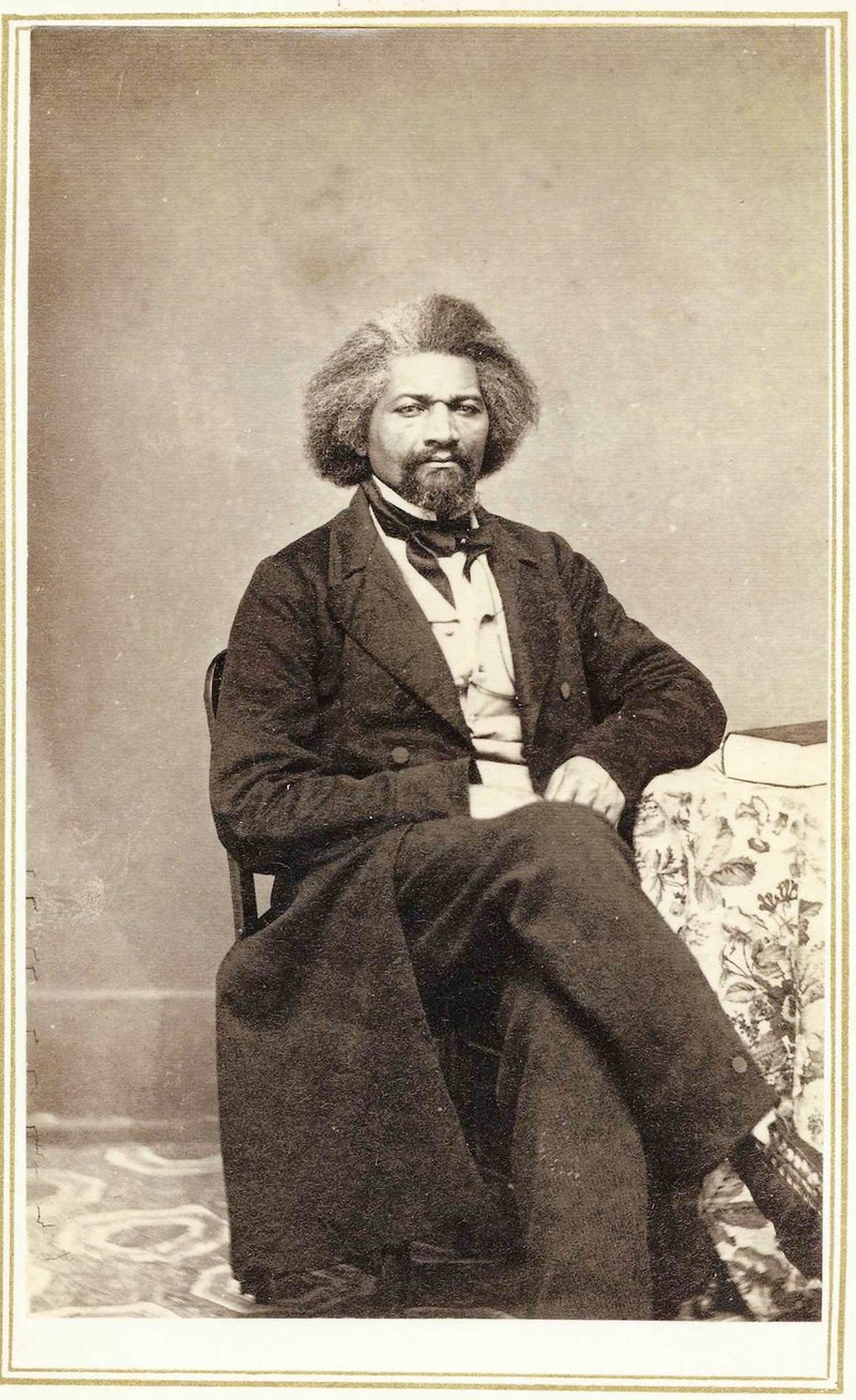 Fredrick Douglass poses for a photo in 1863. ()
