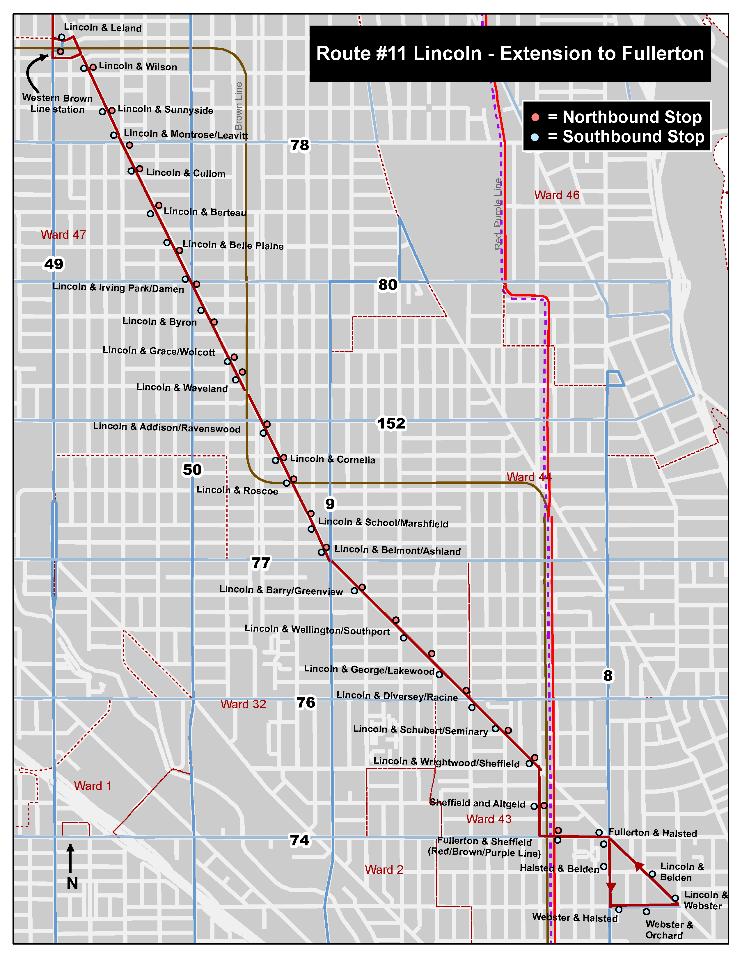 (Map courtesy of the Chicago Transit Authority)