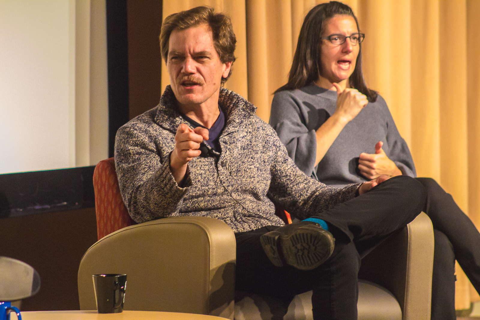 Michael Shannon speaks to DePaul students on Monday, Jan. 28 in the Student Center. (Jesus J. Montero, 14 East)