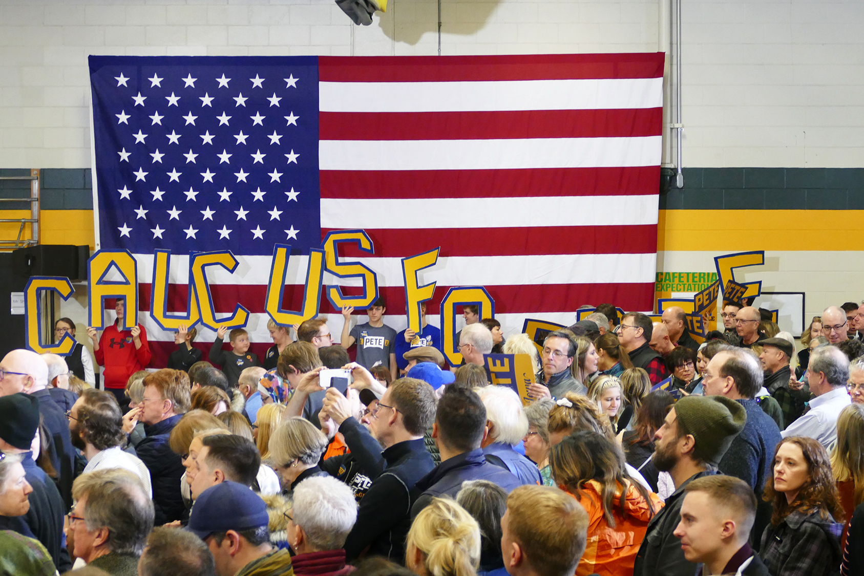 Young voters at Buttigieg's rally. (Marissa Nelson, 14 East)