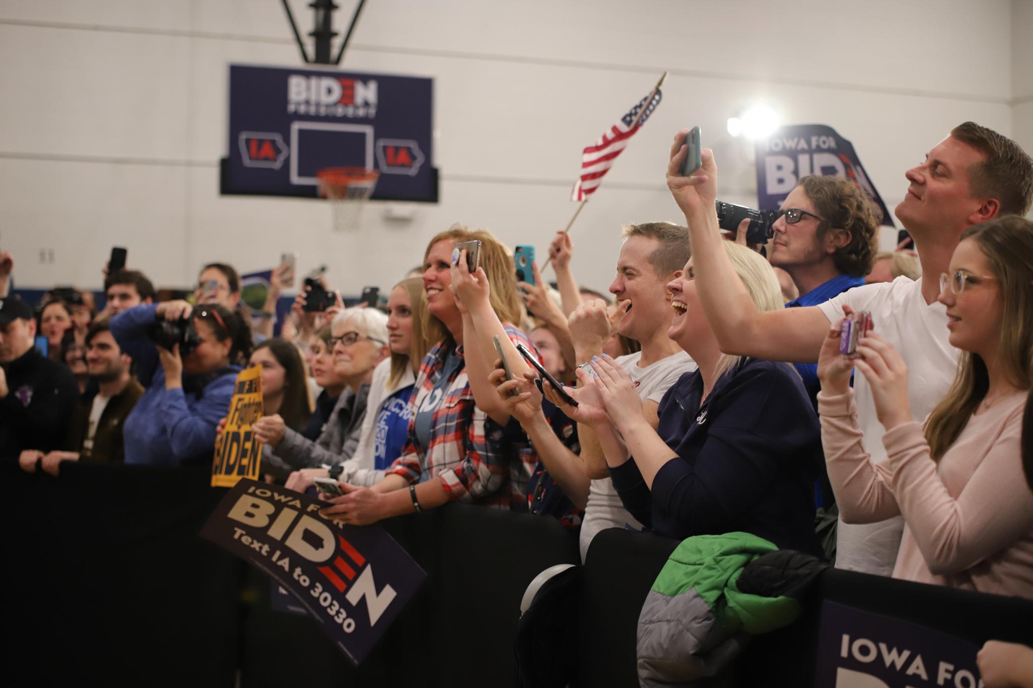 Voters at Biden rally. (Brita Hunegs, 14 East)