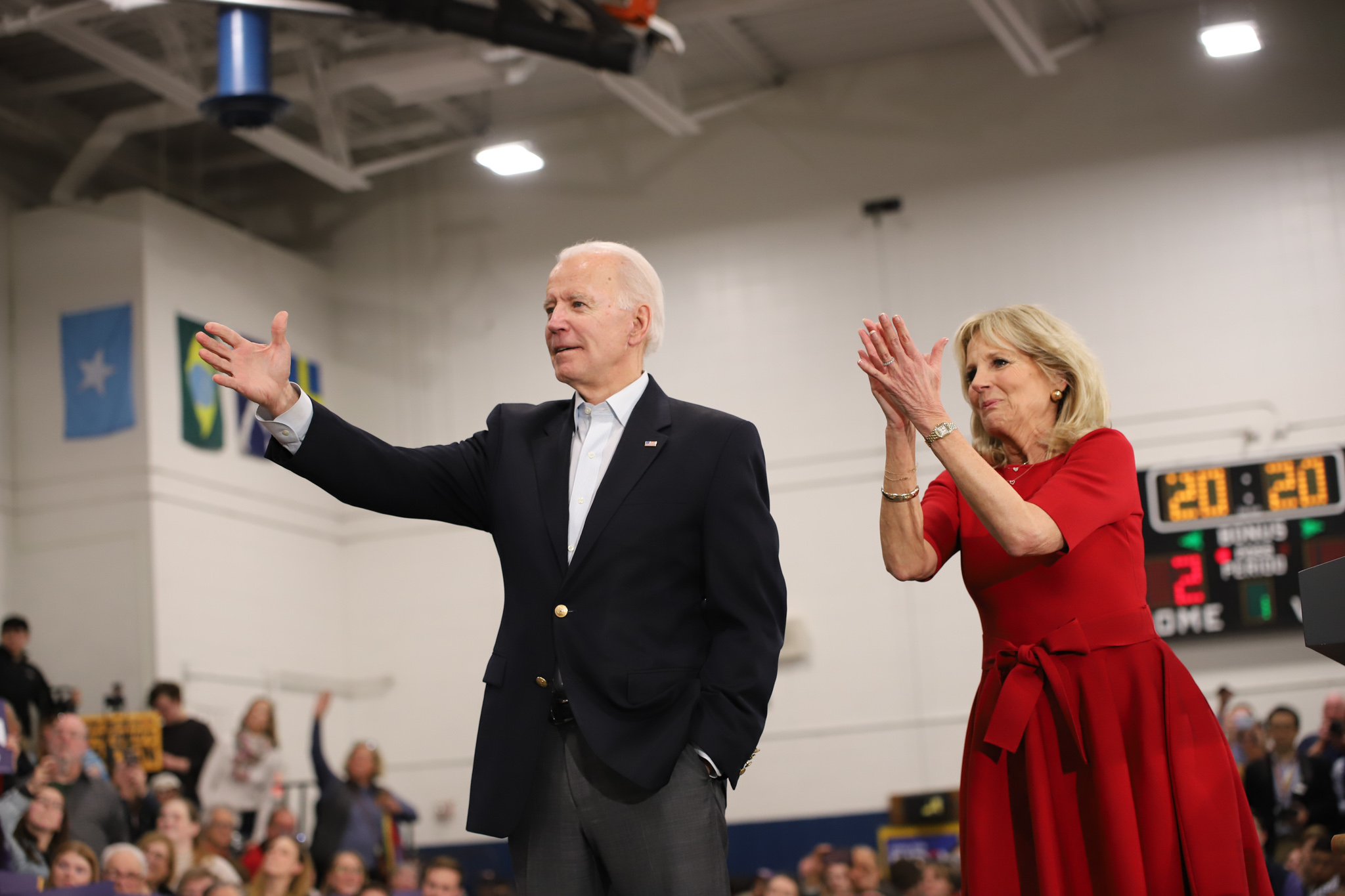 The Bidens at the campaign event. (Brita Hunegs, 14 East)